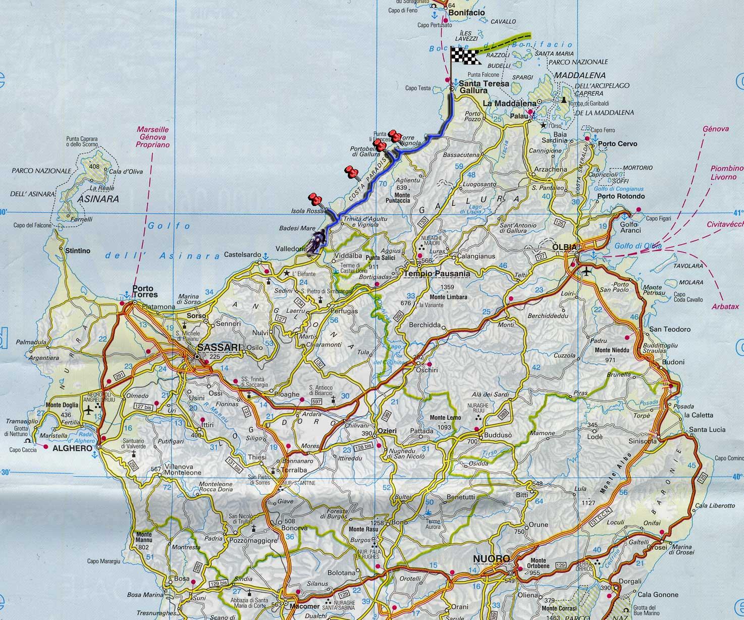 Cartina Sardegna Isola Rossa.Sardegna 04 La Costa Del Nord