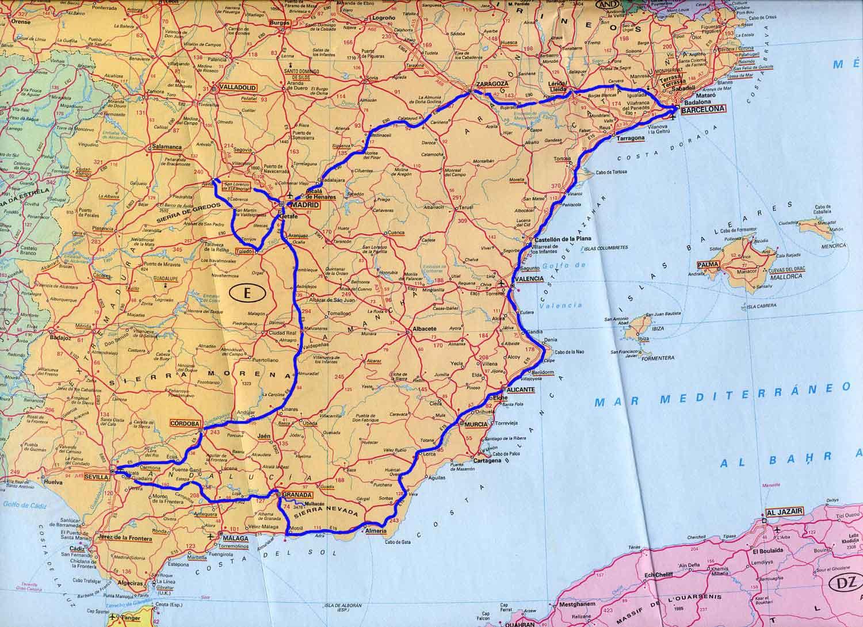 Spagna Sud Cartina.Spagnasud